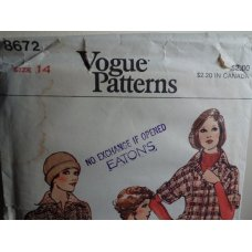 VOGUE Sewing Pattern 8672