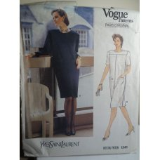 Vogue Yves Saint Laurent Sewing Pattern 1341