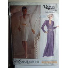 VOGUE Yves Saint Laurent Sewing Pattern 2364